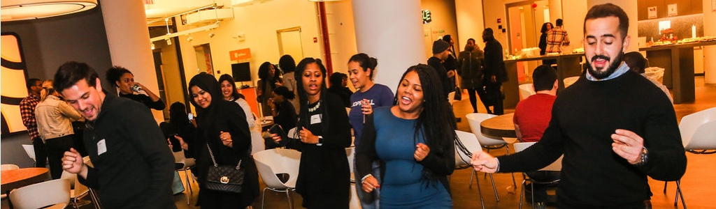 Jopwell candidates network at an event